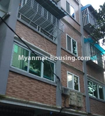 Myanmar real estate - for sale property - No.3372 - First floor glass room apartment for sale in Mayangone! - building view