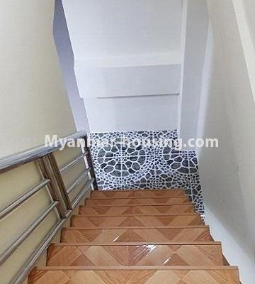 Myanmar real estate - for sale property - No.3374 - Decorated ground floor for sale in Sanchaung! - stair view