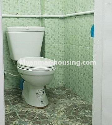 Myanmar real estate - for sale property - No.3374 - Decorated ground floor for sale in Sanchaung! - toilet view