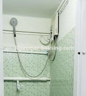 Myanmar real estate - for sale property - No.3374 - Decorated ground floor for sale in Sanchaung! - bathroom view