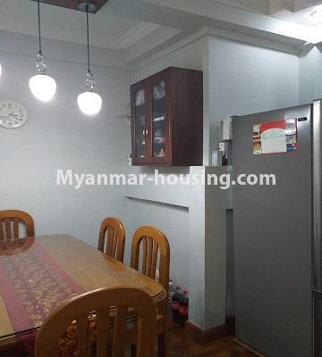 မြန်မာအိမ်ခြံမြေ - ရောင်းမည် property - No.3382 - လှိိုင် ခပေါင်းအိမ်ရာတွင် အခန်းရောင်းရန်ရှိသည်။ - dining area view