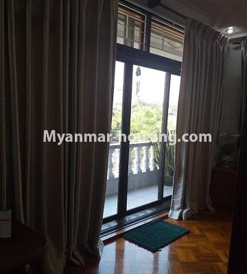 မြန်မာအိမ်ခြံမြေ - ရောင်းမည် property - No.3382 - လှိိုင် ခပေါင်းအိမ်ရာတွင် အခန်းရောင်းရန်ရှိသည်။ - balcony view
