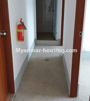 Myanmar real estate - for sale property - No.3387 - Two bedroom condominium room for sale in Botahtaung Time Square! - corridor view