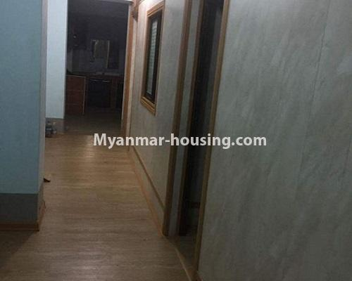 Myanmar real estate - for sale property - No.3388 - Lower Level apartment near Thanthumar Road for sale in South Okkalapa! - corridor view