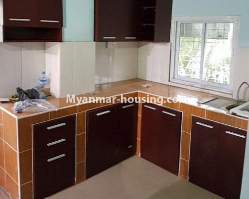 Myanmar real estate - for sale property - No.3388 - Lower Level apartment near Thanthumar Road for sale in South Okkalapa! - kitchen view