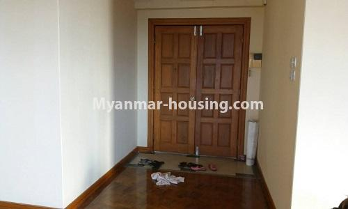 Myanmar real estate - for sale property - No.3389 - Pent house with the panoramic view for sale in Yankin! - main door view