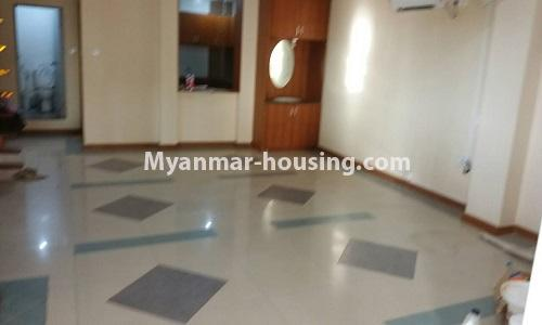Myanmar real estate - for sale property - No.3389 - Pent house with the panoramic view for sale in Yankin! - dining area view