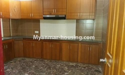 Myanmar real estate - for sale property - No.3389 - Pent house with the panoramic view for sale in Yankin! - kitchen view