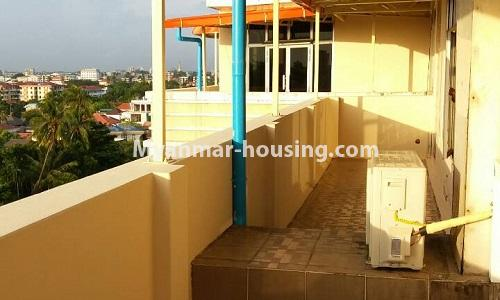 Myanmar real estate - for sale property - No.3389 - Pent house with the panoramic view for sale in Yankin! - front patio view