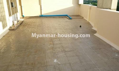 Myanmar real estate - for sale property - No.3389 - Pent house with the panoramic view for sale in Yankin! - back patio view
