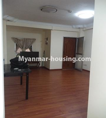 Myanmar real estate - for sale property - No.3391 - First floor two bedroom apartment for sale in Yankin! - living room view