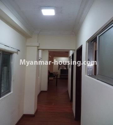 Myanmar real estate - for sale property - No.3391 - First floor two bedroom apartment for sale in Yankin! - corridor view