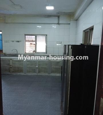 Myanmar real estate - for sale property - No.3391 - First floor two bedroom apartment for sale in Yankin! - kitchen view