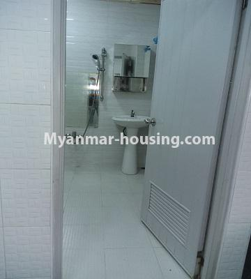 Myanmar real estate - for sale property - No.3391 - First floor two bedroom apartment for sale in Yankin! - bathroom view