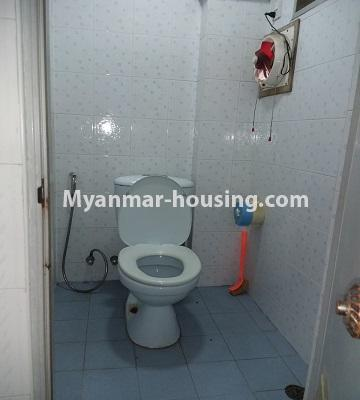 Myanmar real estate - for sale property - No.3391 - First floor two bedroom apartment for sale in Yankin! - toilet view
