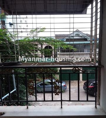 Myanmar real estate - for sale property - No.3391 - First floor two bedroom apartment for sale in Yankin! - balcony view