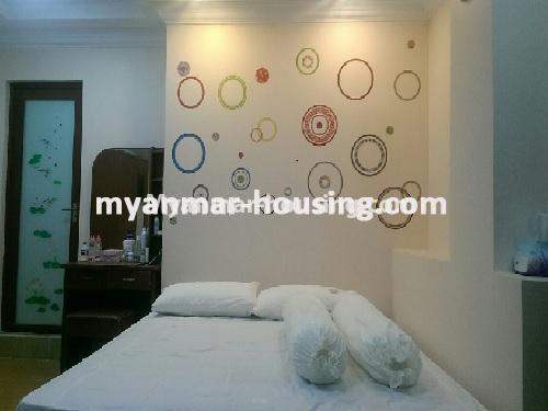 Myanmar real estate - for sale property - No.3399 - Well-decorated Bagayar Condominium room for sale in Sanchaung! - bedroom 1
