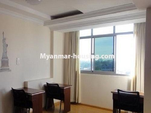 Myanmar real estate - for sale property - No.3399 - Well-decorated Bagayar Condominium room for sale in Sanchaung! - study room