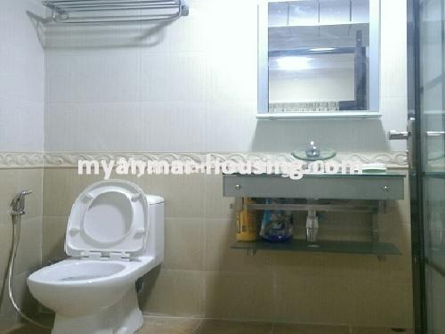 Myanmar real estate - for sale property - No.3399 - Well-decorated Bagayar Condominium room for sale in Sanchaung! - bathroom