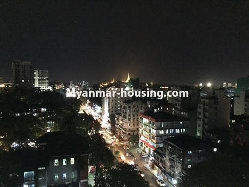 Myanmar real estate - for sale property - No.3399 - Well-decorated Bagayar Condominium room for sale in Sanchaung! - view from balcony