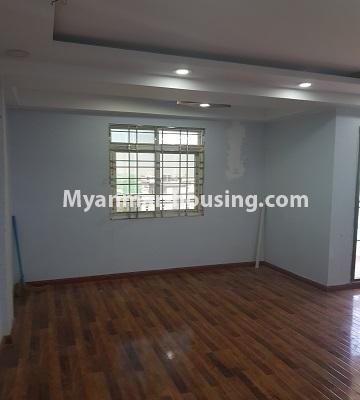 Myanmar real estate - for sale property - No.3410 - Newly built condominium room for sale in Tauggyi! - living room view