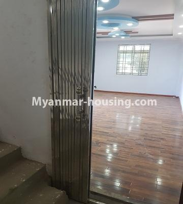 Myanmar real estate - for sale property - No.3410 - Newly built condominium room for sale in Tauggyi! - another view of livng room
