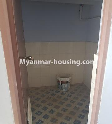 Myanmar real estate - for sale property - No.3410 - Newly built condominium room for sale in Tauggyi! - common bathroom view
