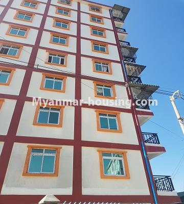 Myanmar real estate - for sale property - No.3410 - Newly built condominium room for sale in Tauggyi! - building view