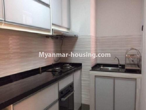 Myanmar real estate - for sale property - No.3412 - Decorated 2BHK Star City Condominium Room for sale in Thanlyin! - kitchen view