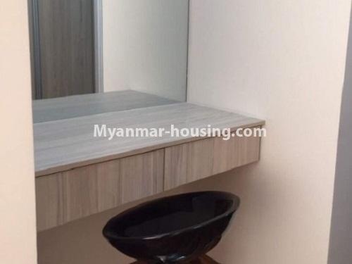 Myanmar real estate - for sale property - No.3412 - Decorated 2BHK Star City Condominium Room for sale in Thanlyin! - common bathroom view