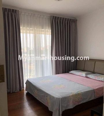 Myanmar real estate - for sale property - No.3418 - Two bedroom Golden City Condominium room for sale in Yankin! - master bedroom view