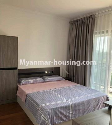 Myanmar real estate - for sale property - No.3418 - Two bedroom Golden City Condominium room for sale in Yankin! - single bedroom view