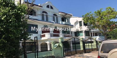 Myanmar real estate - for sale property - No.3420 - Nice Villa for sale in Thiri Yeik Mon Housing, Mayangone! - day view of the house