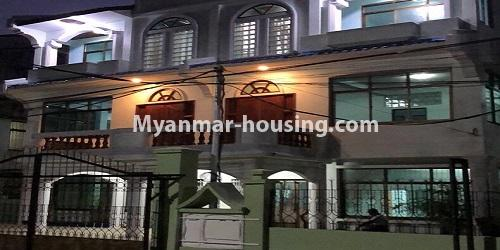 Myanmar real estate - for sale property - No.3420 - Nice Villa for sale in Thiri Yeik Mon Housing, Mayangone! - night view of the house