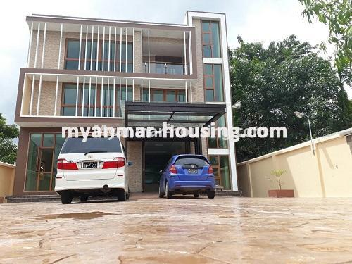 Myanmar real estate - for sale property - No.3421 - Four storey landed house with spacious halls for sale in Mayangone! - house view