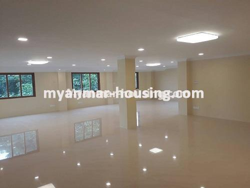 Myanmar real estate - for sale property - No.3421 - Four storey landed house with spacious halls for sale in Mayangone! - interior hall view