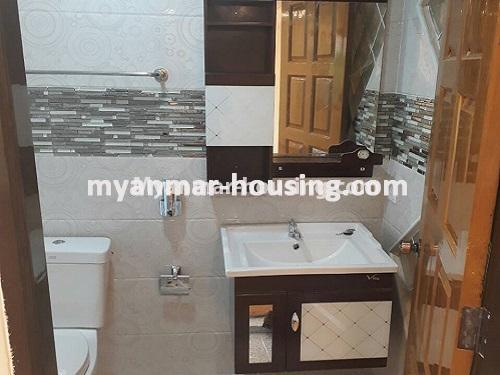 Myanmar real estate - for sale property - No.3421 - Four storey landed house with spacious halls for sale in Mayangone! - bathroom view