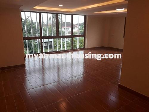 Myanmar real estate - for sale property - No.3421 - Four storey landed house with spacious halls for sale in Mayangone! - another hall view