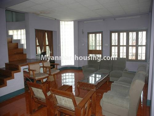 Myanmar real estate - for sale property - No.3423 - Lovely Half and Three Storey Landed House for sale in Tarmway! - living room view