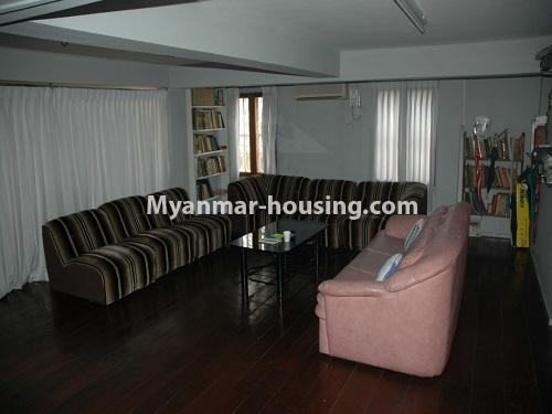 Myanmar real estate - for sale property - No.3423 - Lovely Half and Three Storey Landed House for sale in Tarmway! - another living room view