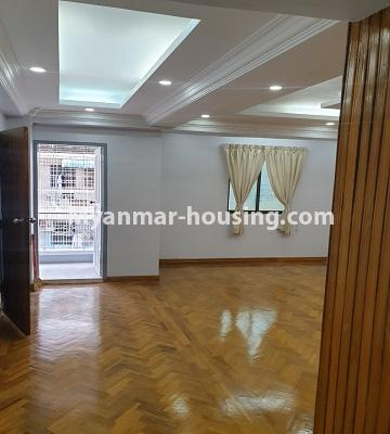 Myanmar real estate - for sale property - No.3430 - Newly renovated 2BHK apartment room for sale in Sanchaung! - another view of living room