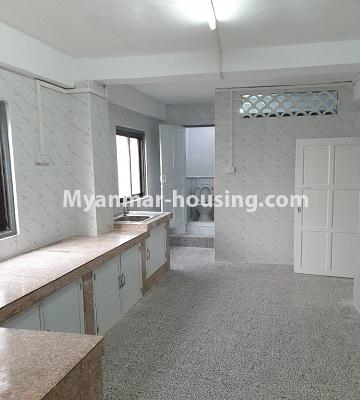 Myanmar real estate - for sale property - No.3430 - Newly renovated 2BHK apartment room for sale in Sanchaung! - kitchen view