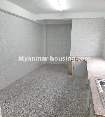 Myanmar real estate - for sale property - No.3430 - Newly renovated 2BHK apartment room for sale in Sanchaung! - another view of kitchen