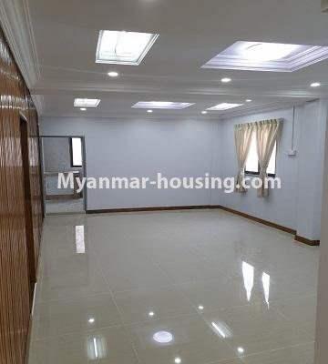 Myanmar real estate - for sale property - No.3430 - Newly renovated 2BHK apartment room for sale in Sanchaung! - dining area