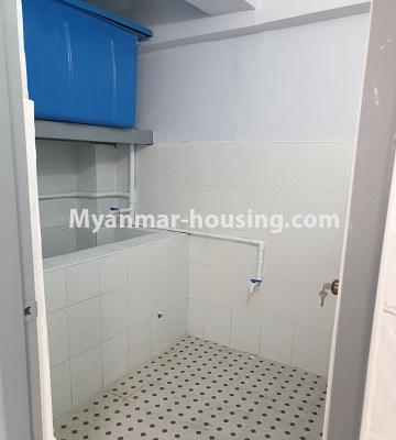 Myanmar real estate - for sale property - No.3430 - Newly renovated 2BHK apartment room for sale in Sanchaung! - bathroom view