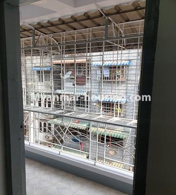 Myanmar real estate - for sale property - No.3430 - Newly renovated 2BHK apartment room for sale in Sanchaung! - balcony
