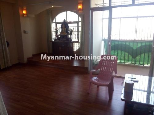 Myanmar real estate - for sale property - No.3432 - 2 BHK China Town Condo room for sale in Lanmadaw! - living room view