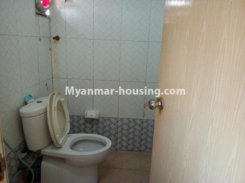 Myanmar real estate - for sale property - No.3432 - 2 BHK China Town Condo room for sale in Lanmadaw! - common toilet view