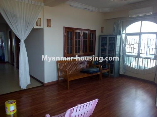 Myanmar real estate - for sale property - No.3432 - 2 BHK China Town Condo room for sale in Lanmadaw! - anothr view of living room
