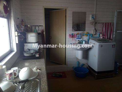 Myanmar real estate - for sale property - No.3432 - 2 BHK China Town Condo room for sale in Lanmadaw! - kitchen view
